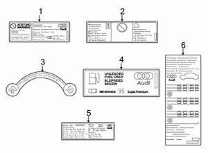 Audi A3 A  C System Information Label  Convertible   Convertible  R134a  R134a
