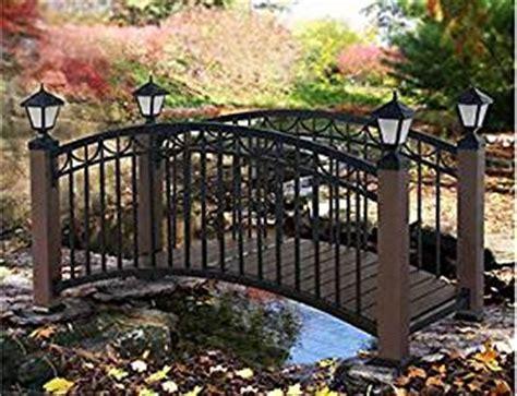 amazoncom  foot metal garden bridge  solar lights