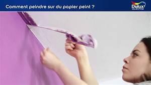 comment peindre sur du papier peint youtube With comment peindre du papier peint