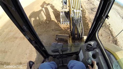 cat  excavator  cab view youtube