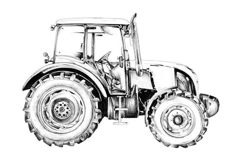Kleurplaat Machines Landbouw by Agricultural Tractor Illustration Drawing Stock