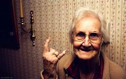 Rock Grandmother Woman Grandma Granny Grand Wallpoper