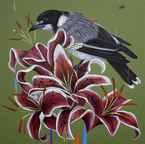 colorful bird paintings