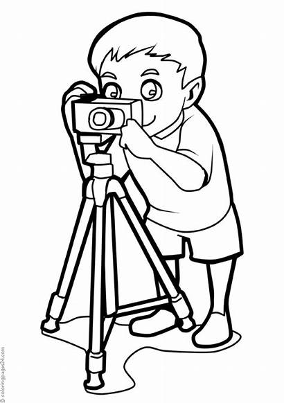 Fotografos Arbeit Colorear Valokuvaajat Coloring Ausmalbilder Fotografowie