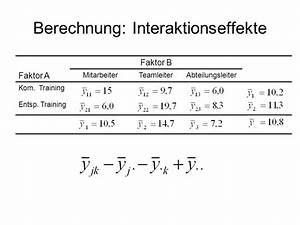 Freiheitsgrade Berechnen Statistik : tutorat statistik ii im ss 09 zweifaktorielle varianzanalyse ppt herunterladen ~ Themetempest.com Abrechnung