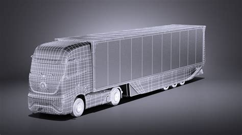 mercedes ft 2025 future truck with trailer vray 3d