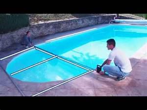 mesure dimension baches a bulles piscine youtube With enrouleur bache piscine hors sol ovale