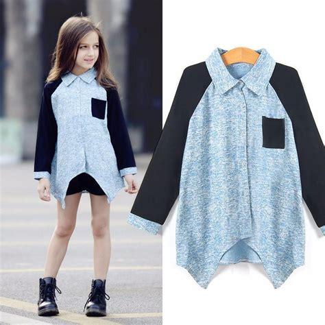 summer denim shirt  girls baby girl blouse age