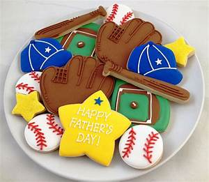 Baseball Father's Day Cookies - $35.00   Galletas ...