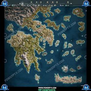 Assassin's Creed Odyssey Viewpoint Locations Map