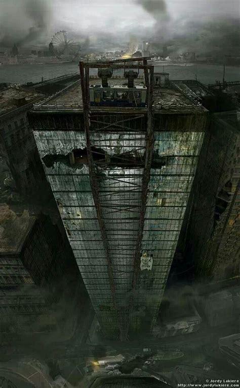 apocalypse london apocalyptic deviantart dystopian concept painting cyberpunk future end matte 2111 jordy lakiere artwork zombie building landscape futuristic print