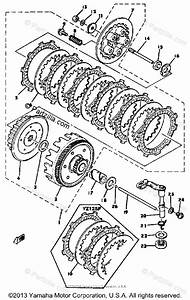 Yamaha Motorcycle 1978 Oem Parts Diagram For Clutch Yz125e