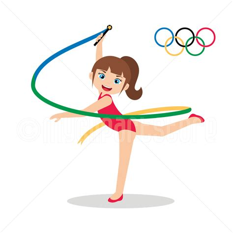 Gymnastics Clipart Rhythmic Gymnastics Clipart Clip Guru