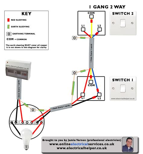 electrical helper wiring 2 way switch