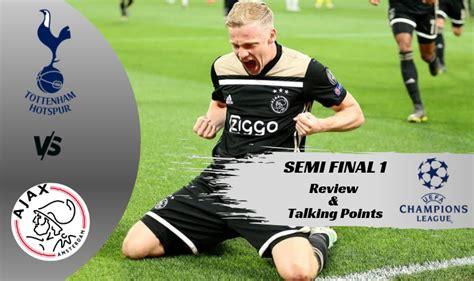 Tottenham v/s Ajax – Champions League Semi Final 1