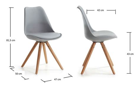 chaise pied bois assise plastique chaise de cuisine grise roomscape chaise cantilever stam