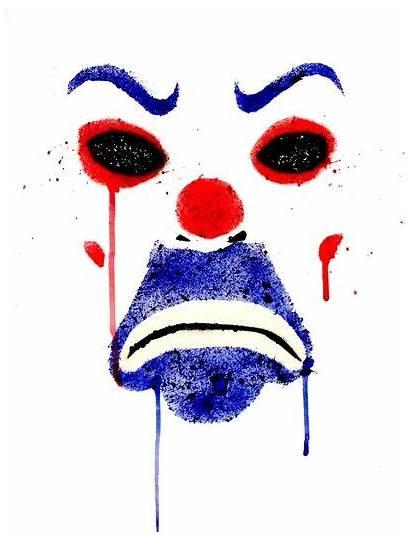 Joker Mask Robber Bank Tattoo Dark Knight