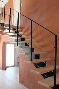 Escalier Fer Et Bois : le brannec escalier m tallique et bois avec des fer ~ Dailycaller-alerts.com Idées de Décoration