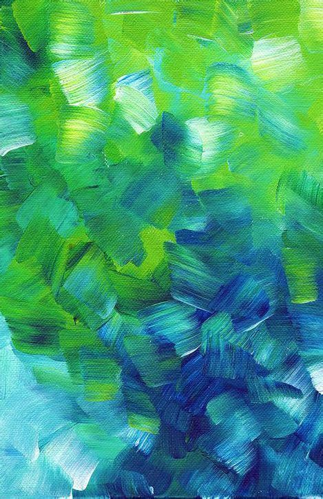 Abstract Blue And Green Wallpaper by Blue And Green Abstract Abstract Painting