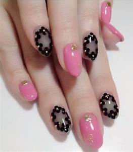 15+ Black & Pink Gel Nail Art Designs & Ideas 2016 ...