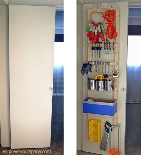 diy storage hooks door organizing closet organizing