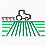 Farm Icon Field Land Agriculture Tractor Plow