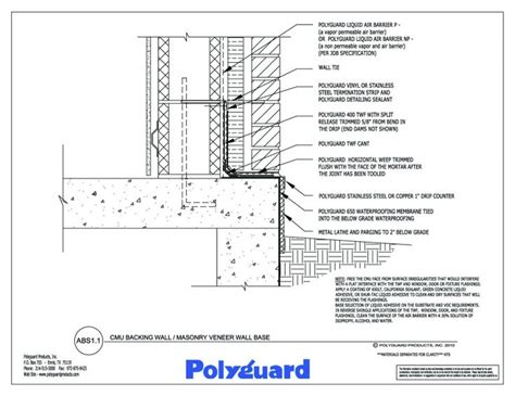 cmu wall section details detail drawings pinterest