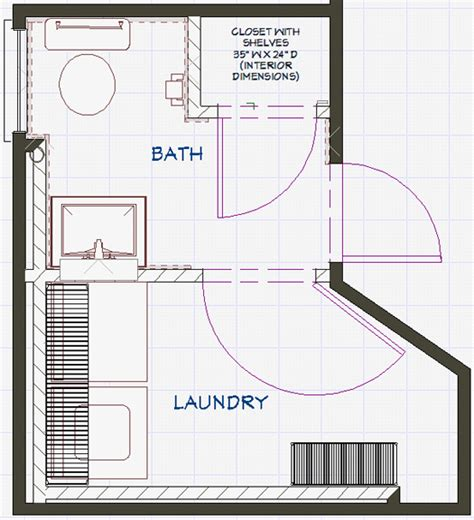 bathroom floor plans with washer and dryer basement bath laundry braitman design studio