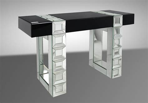 Transitional Mirrored Console Table
