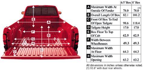 dodge ram pickup dimensions