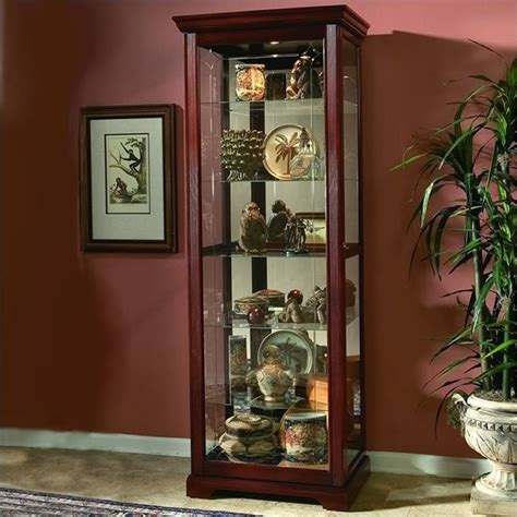 Pulaski Furniture Cherry Curio Cabinet by Pulaski Cherry Curio Cabinet 20717