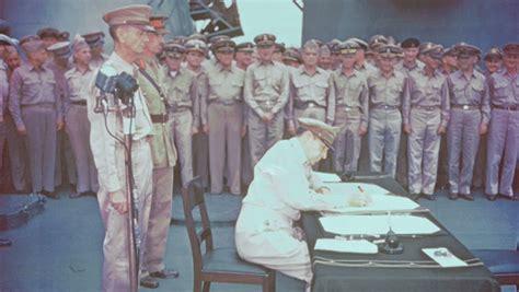 douglas macarthur receives  japanese surrender history