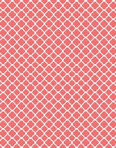 Coral Quatrefoil (Moroccan, damask and polka dots) Free ...