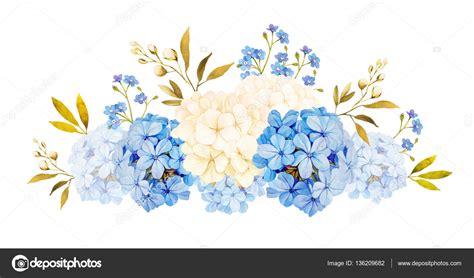 Watercolor Hydrangea Flowers Clipart Wedding Flowers