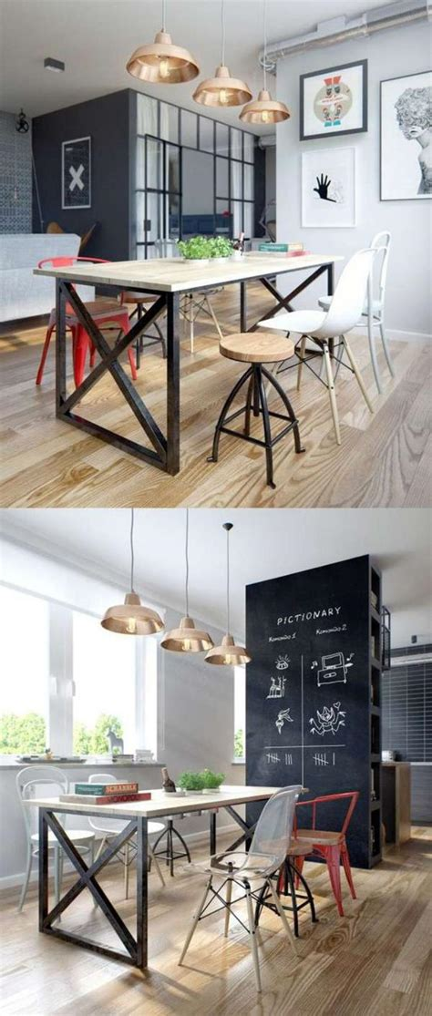 table a manger style industriel l am 233 nagement d une salle 224 manger style industriel en 48 photos archzine fr
