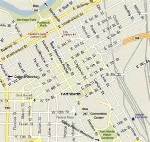 Map Downtown Fort Worth