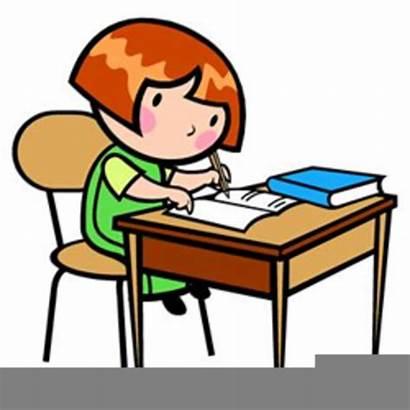 Clipart Working Desk Child Clip Clker