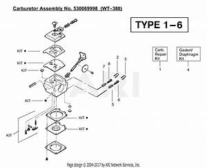 Poulan Bc2400 Gas Trimmer Type 1 Parts Diagram For