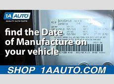 How and Where to find the Date of Manufacture on your