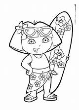 Coloring Summer Printable Pages Preschool Beach Dora Fun Preschoolers Bear Getcoloringpages Smokey Comments sketch template