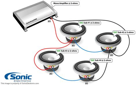 Wiring 1 Diagram Ohm Subwoofer by Dual 4 Ohm Wiring Diagram Wiring Images