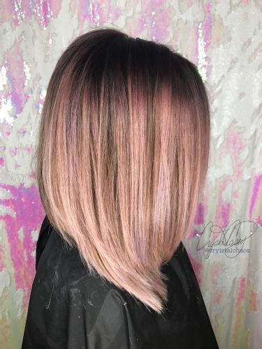 stunning rose gold hair color ideas highlights