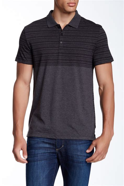 calvin klein siege social calvin klein sleeve engineered stripe polo