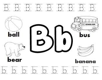 letter b worksheets by kindergarten swag teachers pay teachers