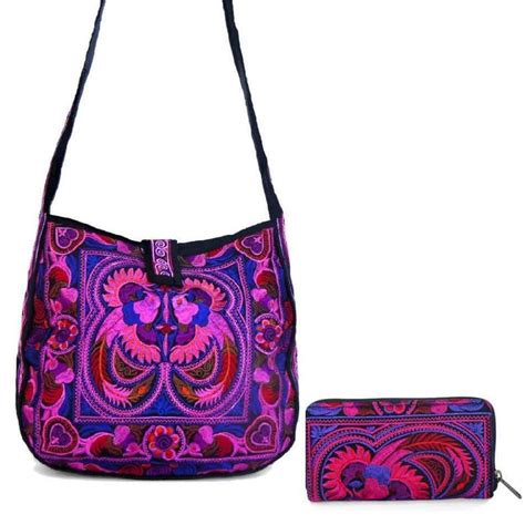 Embroidered Tote Bag medium embroidered hmong summer tote bag and accordion