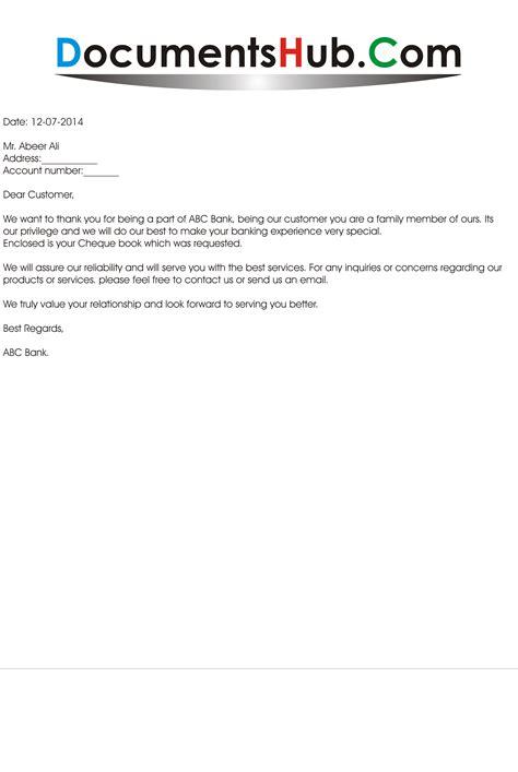 letter  bank  customer documentshubcom