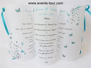 Menu photophore papillon aurore x1 for Couleur avec bleu marine 15 menu photophore champetre x1