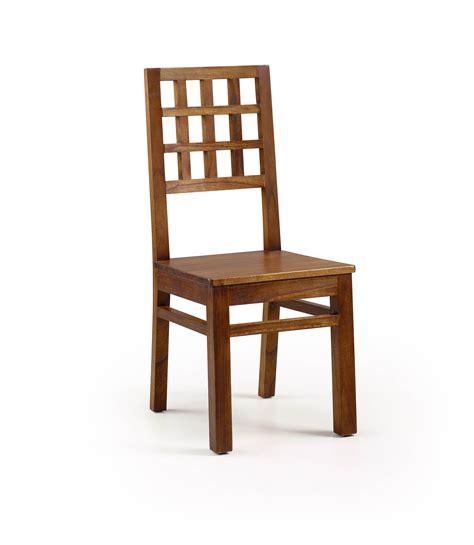 chaise couleur chaise bois exotique couleur marron collection mawan