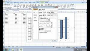 How To Change Excel 2007 Chart Scale Youtube