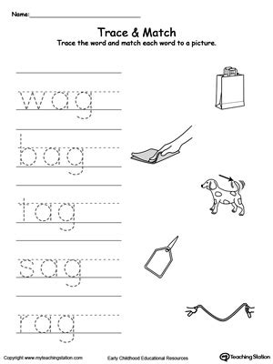ag word family match letter and write the word ag worksheets the large and most comprehensive worksheets 28059